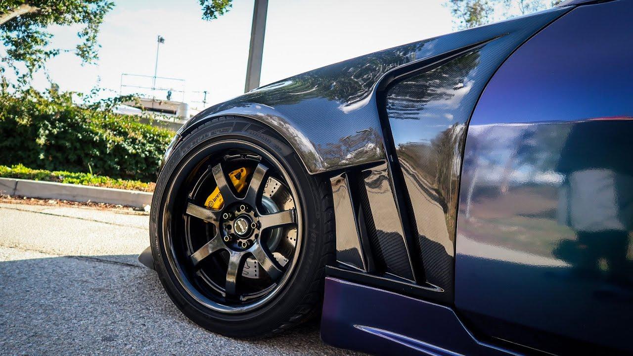 new 350z carbon fiber fenders! youtube