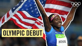 Tori Bowie's 🇺🇸 first Olympic Race! 🏃♀️