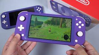 Unboxing Blue Switch Lite: NOW It's Purple 😂 [Shell Swap]