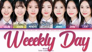[READ DESCRIPTION] Weeekly (위클리) - Weeekly Day Lyrics (Han/Rom/Eng/Color Coded/Lyrics/가사)