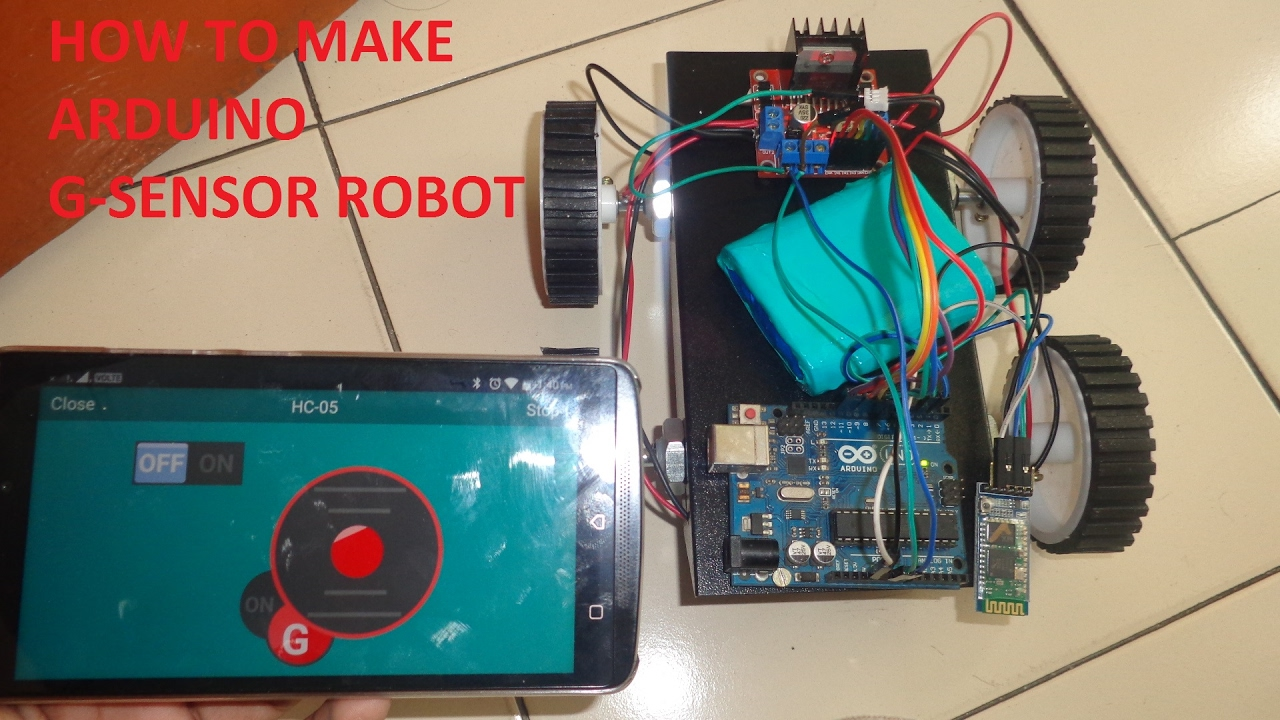 How To Make G-sensor Robot Car Using Arduino