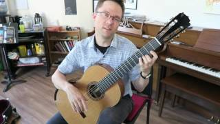 Lesson: Rujero by Sanz for Classical Guitar (Easy)