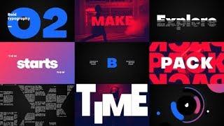 Große Titel -Typografie ★ After Effects Template ★ AE-Vorlagen