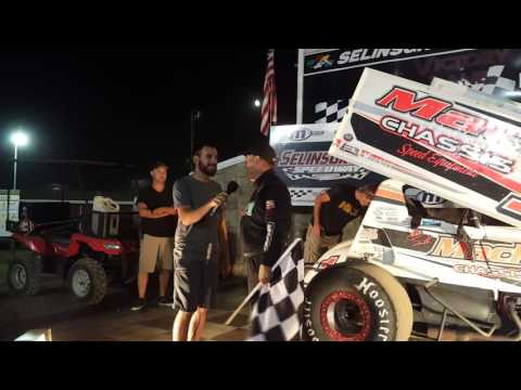 Selinsgrove Speedway 360 Sprint Car Victory Lane 7-23-16