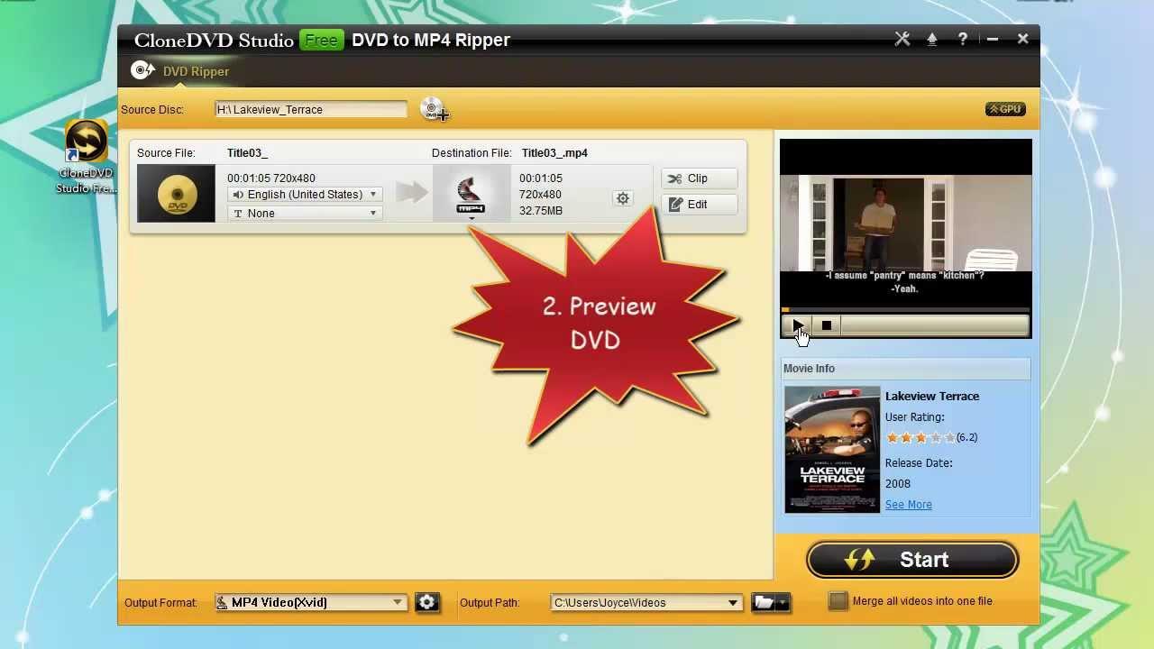CloneDVD Studio Free DVD to MP4 Ripper - Rip and Convert DVD