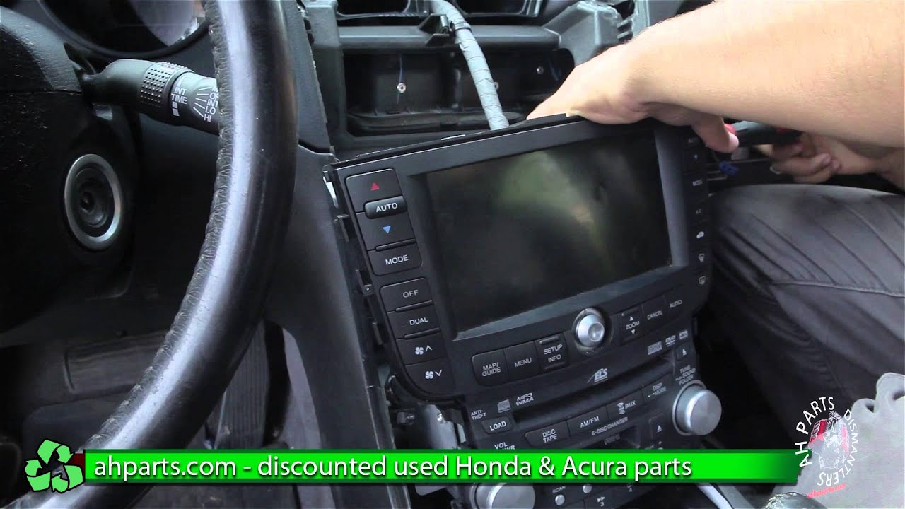 how to replace change a navigation screen 2004 2005 2006 2007 2008 acura tl replace diy part 2 [ 1280 x 720 Pixel ]
