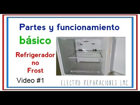 Cómo Funciona Un Refrigerador O Nevera No Frost.  Sus Partes.