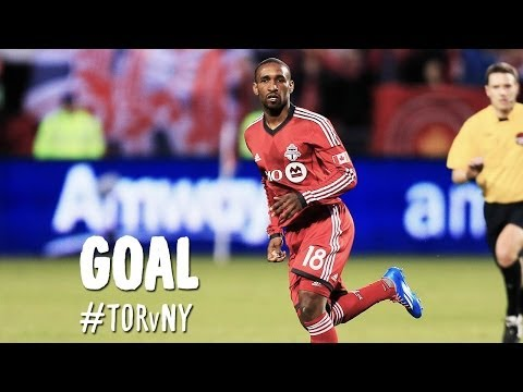GOAL: Jermain Defoe sends a rocket into the upper corner | Toronto FC vs New York Red Bulls