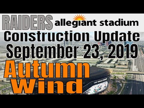 Las Vegas Raiders Allegiant Stadium Construction Updaate 09 23 2019