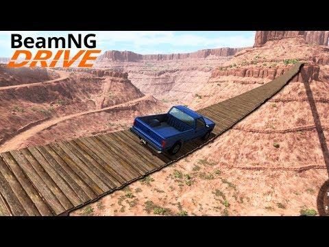 A PONTE MAIS TENSA do MUNDO!!! (PONTE SUSPENSA) - Beamng Drive