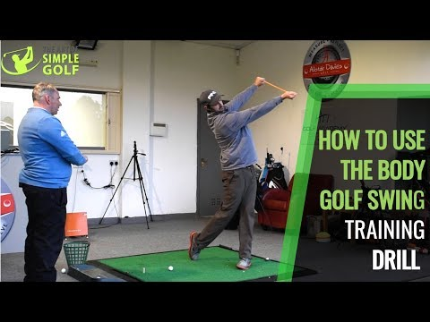 HOW TO USE THE BODY GOLF SWING AND STOP FLIPPING TRAINING DRILL AT HOME