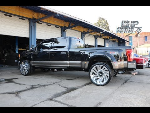 "WhipAddict: $120k on 2019 Ford F350 King Ranch on 28"" Forgiato Canale Dually"