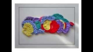 Rainbow crochet free form bracelet by Fibreromance Part I.
