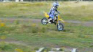 5 yr old learning to jump his moto x bike CH racing husky pro50