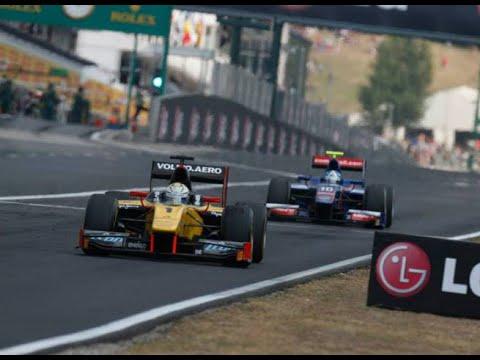 Marcus Ericsson vs  Jolyon Palmer, GP2 Hungaroring '13