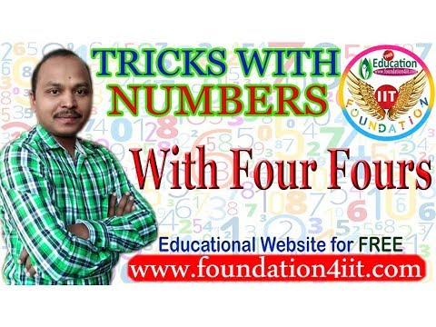 Tricks With Numbers || With Four Fours || Maths Puzzle # 9 ||