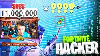 KILL Me A HACKER AND WIN THE PARTY WHILE I ARRIVE AT 11,000,000 SUBS IN FORTNITE - TheGrefg