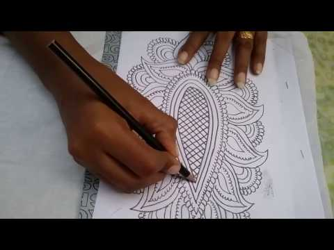 How to trace a design on fabric for painting/embroidery at home l DIY transforming design on fabric