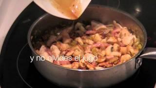 Pechuga de pollo con champiñones y arroz