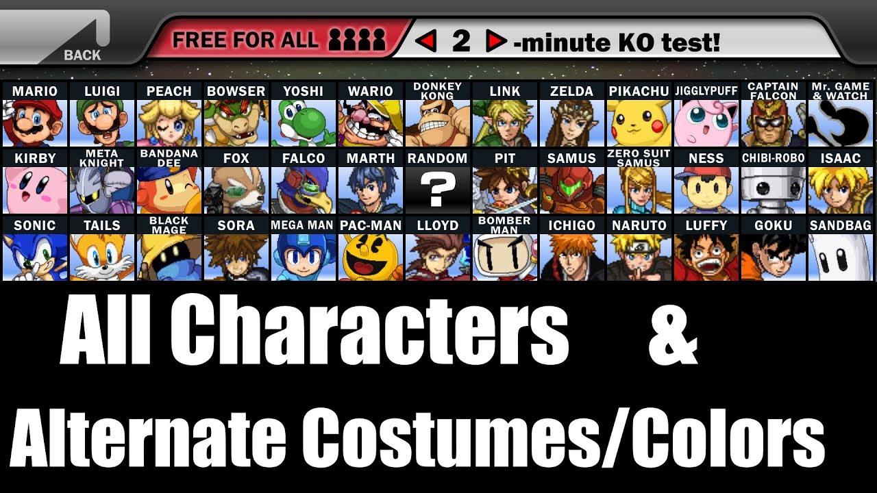 Super Smash Flash 2  |Super Smash Flash All Characters