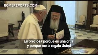 Patriarca Bartolomé propone al Papa celebrar juntos en Jerusalén los 50 años de buenas relaciones