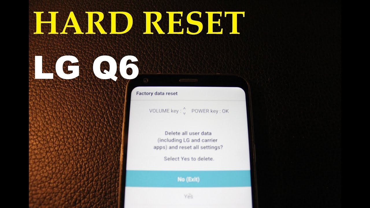 LG Q6    Hard reset & RECOVERY MODE