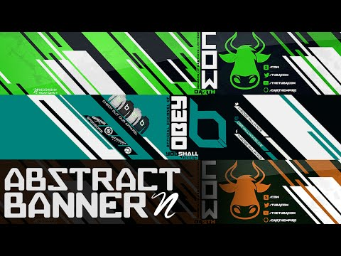 Tutorial: Abstract YouTube Banner PS CC by Qehzy