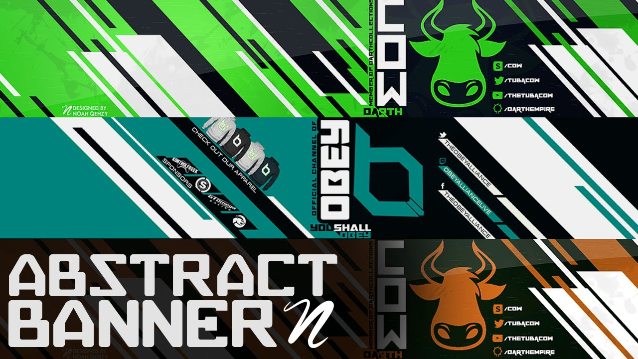 Tutorial Abstract YouTube Banner PS CC By Qehzy