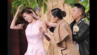 Lâm Vỹ Dạ lao tới túm tóc tát Ninh Dương Lan Ngọc ngay trên sân khấu