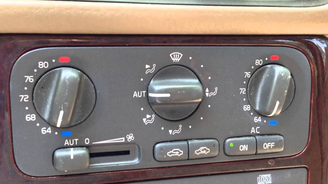 2000 Volvo S70 Climate Control Unit - YouTube