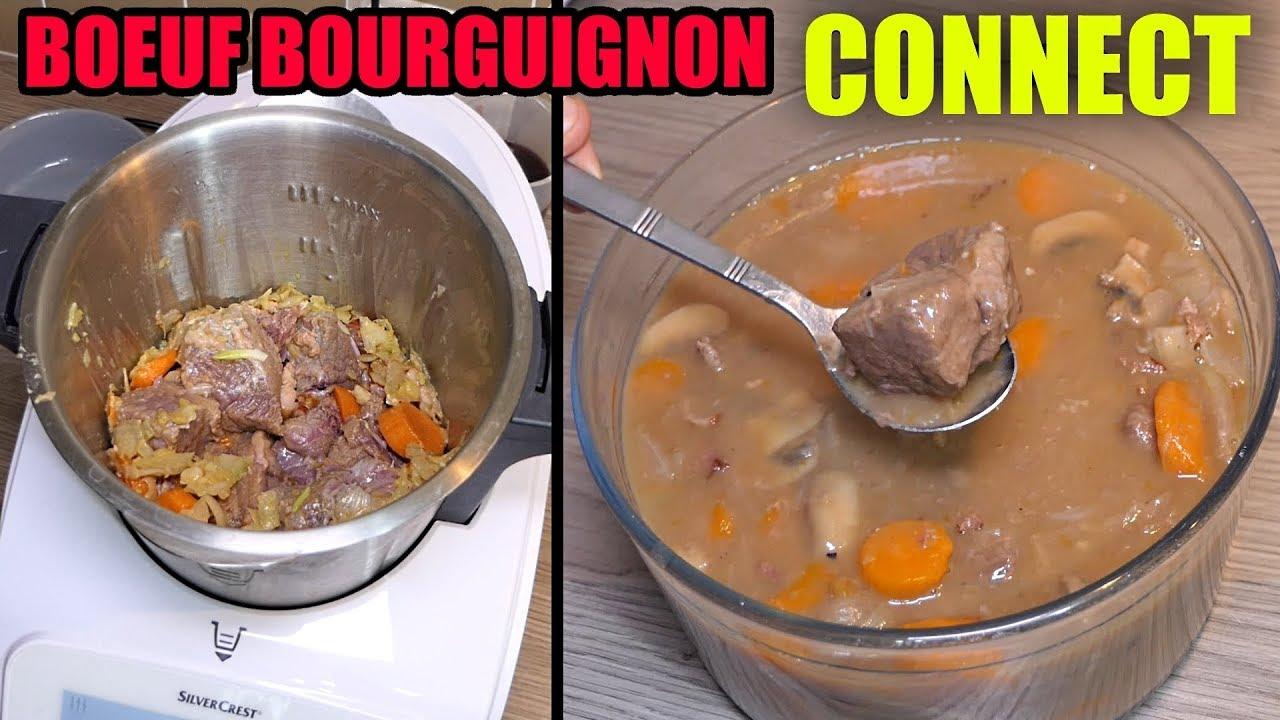 Bœuf Bourguignon Au Monsieur Cuisine Connect Recette Thermomix