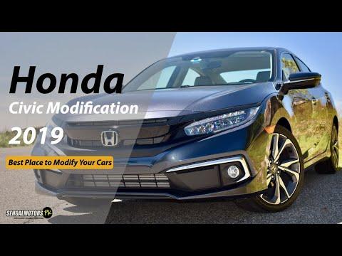 honda-civic-modification-2020- -fog-lamps- -floot-mats- -led-sill-plates- -cobra-style-spoiler
