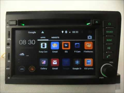 Android Auto DVD system for Volvo S60 2001-2004 Car GPS Radio Bluetooth Wifi 3G Internet - YouTube