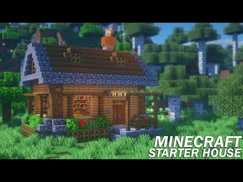 Minecraft: How To Build A Starter House | Survival Starter House Tutorial