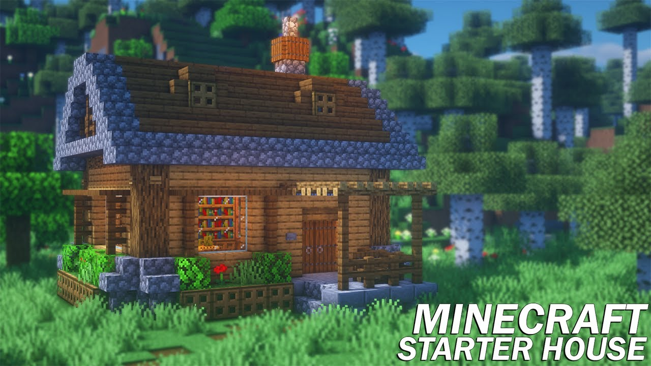 Minecraft: How to Build a Starter House  Survival Starter House Tutorial