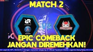 Karrie Super OP! PSG RRQ VS Bigetron Match 2: MPL SEASON 3 mobile legends indonesia