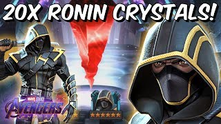 20x 6 Star Ronin (Avengers Endgame) Cavalier Featured Crystal Opening! - Marvel Contest of Champions