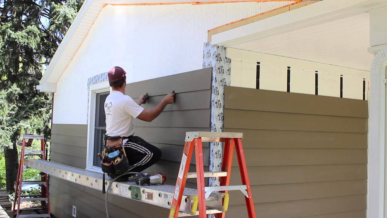 Attaching Siding with Nail Gun  YouTube