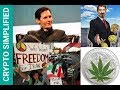 Telegram ICO, McAfee pumps, Solutions for legal weed in the USA. Market Update 9th Jan