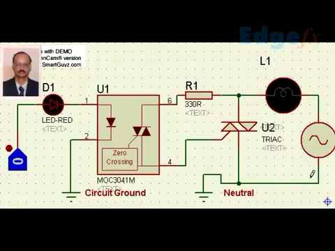 Opto Isolator Circuit Interface to TRIAC | Sensor based Projects on