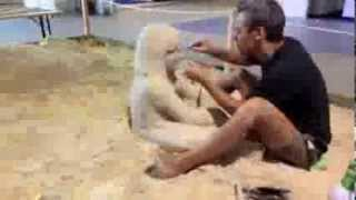 How to make a sand sculpture in 2:30 minutes.