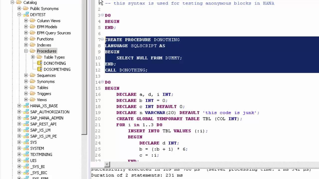 SAP HANA Academy - SAP HANA SQLScript: Anonymous Blocks