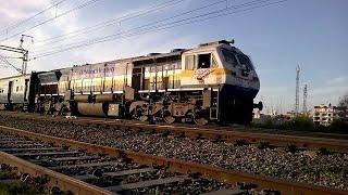 Thrilling high speed EMD action: TKD WDP4B #40070 with Bilaspur bound Chhattisgarh Express
