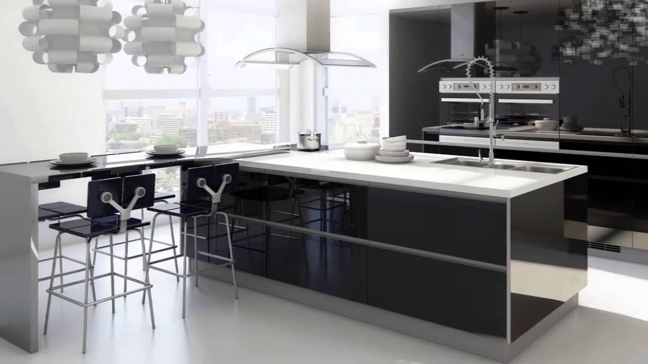 Cozinha Preta E Branca Pequena Simples Como Decorar Salas De Jantar