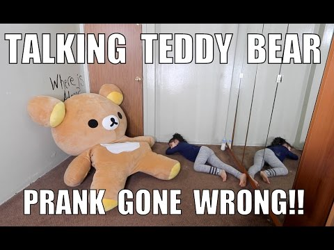 Thumbnail: TALKING TEDDY BEAR PRANK GONE WRONG!!