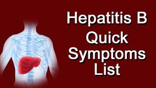 Hepatitis B Quick Symptoms List