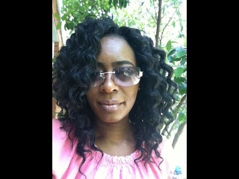 Crochet braids with invisible part (not a tutorial) - YouTube
