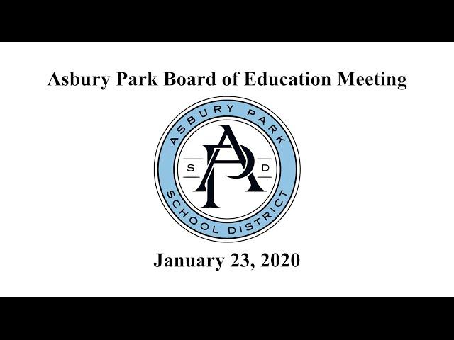 Asbury Park Board of Education - Jan. 23, 2020