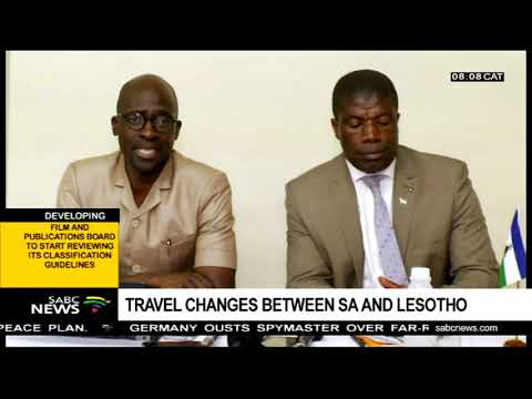 Travel changes between SA and Lesotho