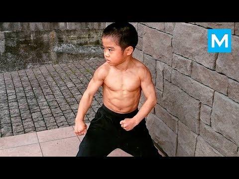 Little Dragon  Baby BRUCE LEE  Ryusei Imai  Muscle Madness